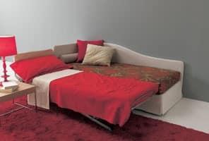 Sommier, Aufklappbares Sofa, mit orthopädischen Netz, für Wohnungen