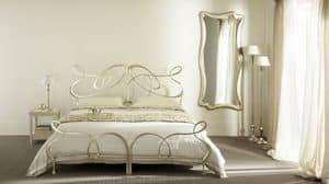 Ghirigori Doppelbett, Doppelbett in Flacheisen, Handarbeit, für Hotels