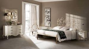 Klimt Bett, Bett in gezeichnet Eisen, Handarbeit, für Hotels