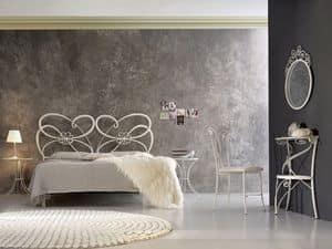 Tango, Schmiedeeisen-Doppelbett, im modernen Stil