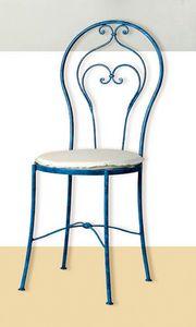 S.5490/4, Klassischer Stuhl aus Schmiedeeisen