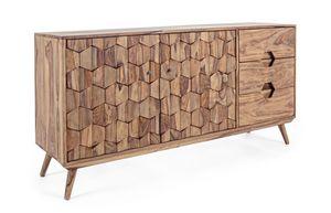 Anrichte 2A-3C Kant, Anrichte aus Holz mit Wabentüren