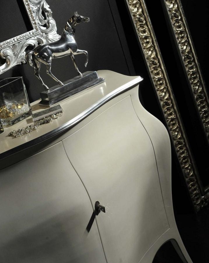 Arcobaleno Sideboard, Weiß lackiertes Sideboard