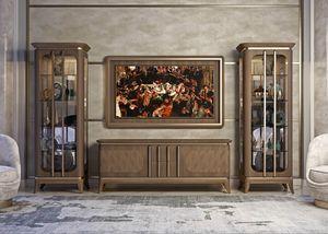 Art. 5005, Niedriger Schrank in Nussbaum Canaletto