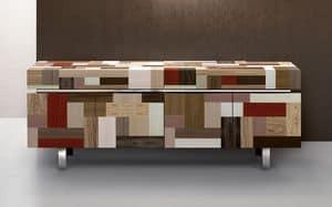 ATHENA 2.3 PW90, Hand abgedeckt Sideboard, Edelholzessenzen, 4 Türen