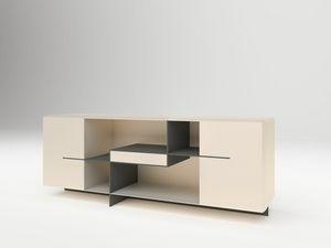 Brilliant, Modernes Sideboard aus lackiertem Holz