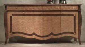 CR59 Charme Sideboard, Sideboard in eingelegtem Holz, für Luxus-Hotels