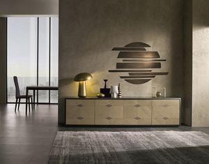 CR61 Desyo Lux Sideboard, Niedriges Sideboard für Wohnzimmer