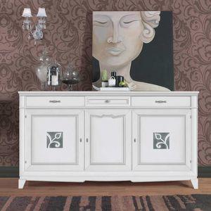 Giorgia GIORGIA3023, Elegantes Sideboard in weißer Ausführung