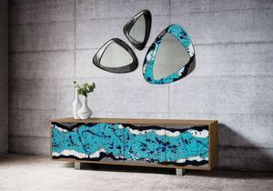 Life Oceanside Anrichte, Elegantes Sideboard mit Lavasteintüren