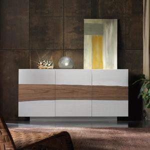 Spazio Contemporaneo SPAZE1057, Sideboard mit dekorativer Tür