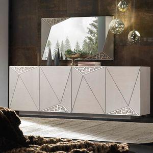 Spazio Contemporaneo SPAZE1067, Sideboard mit dekorativem Laubsägearbeiten