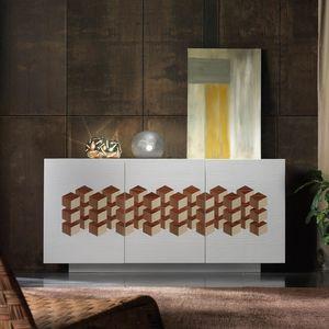 Spazio Contemporaneo SPAZE1069, Sideboard mit geometrischem Inlay