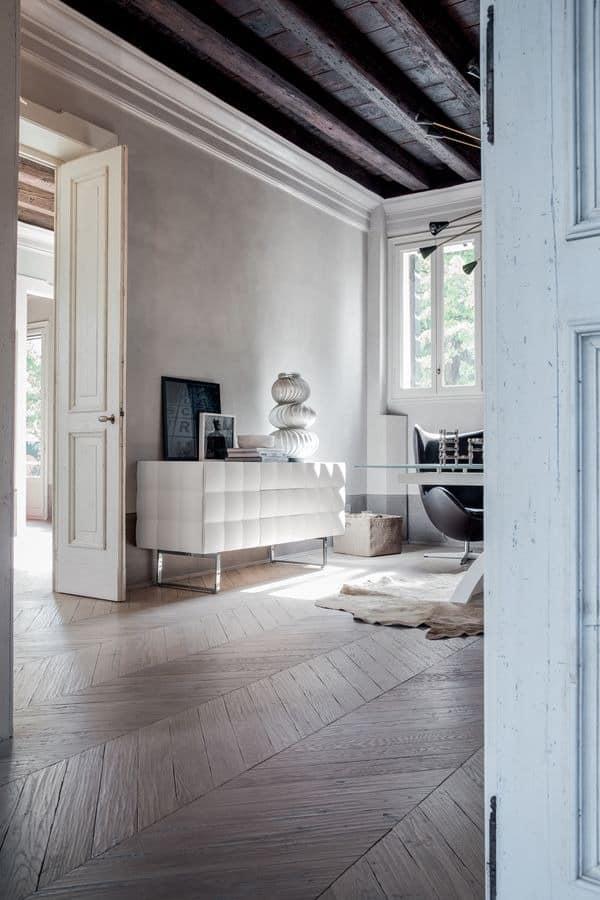 VENICE sideboard, Anrichte in laminiert mit PVC, für Wohnzimmer beschichtet