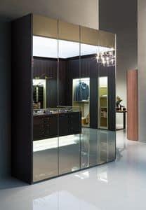 ATLANTE SEVENTY comp.03, Kleiderschrank mit Spiegeltüren, in verschiedenen Größen
