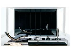 ATLANTE SHEER comp.02, Schrank mit unsichtbaren Griff, für Luxus-Hotels