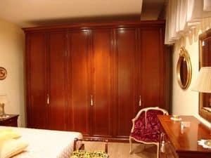 Chery, 6 Türen Kleiderschrank in Kirsche, für Schlafzimmer