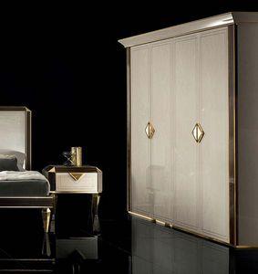 DIAMANTE Kleiderschrank, Kleiderschrank im klassischen Stil für Schlafzimmer
