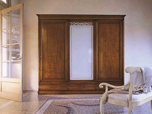 Fenice Kleiderschrank, Kleiderschrank im klassischen Stil mit Schiebetüren