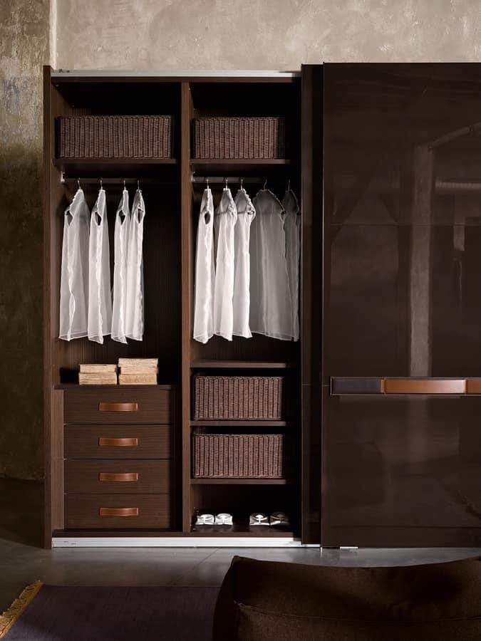 SUMO, Modular Kleiderschrank mit Schiebetüren, verschiedenen Ausführungen