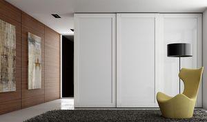TELAIO, Kleiderschrank mit lackierten Glastüren
