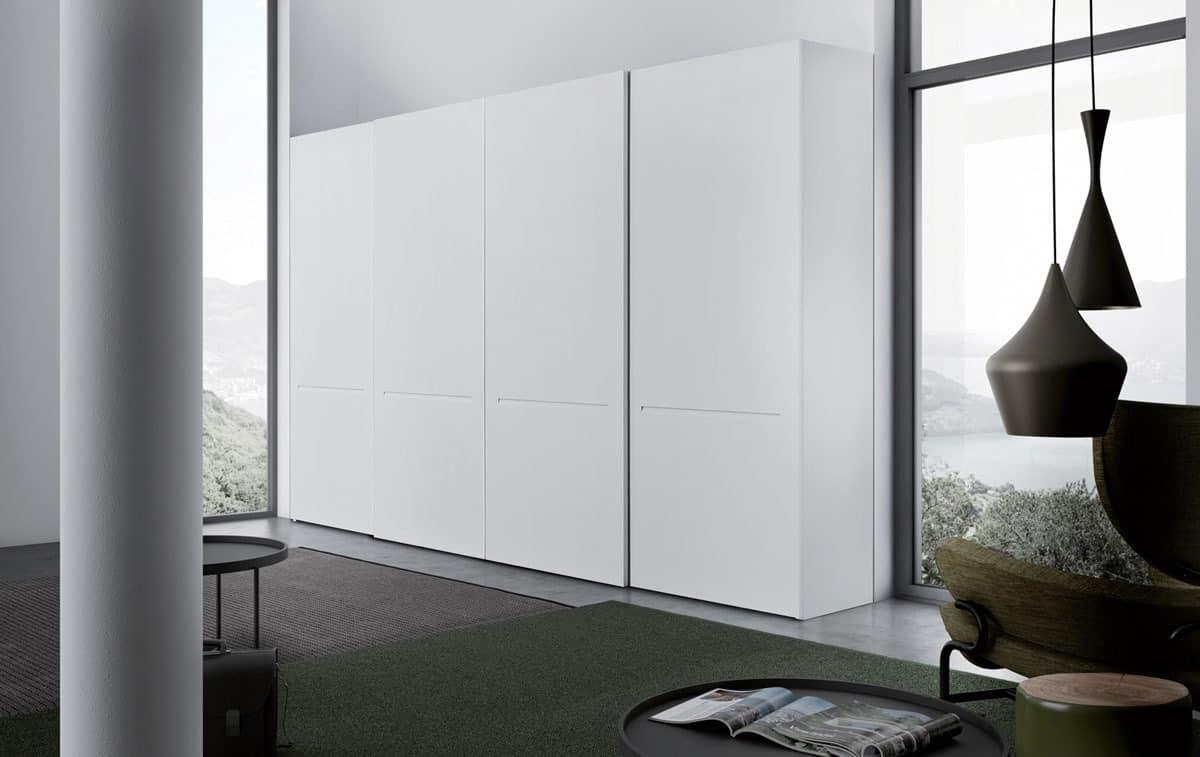 Tratto, Design Kleiderschrank für Kleidung im wesentlichen Stil