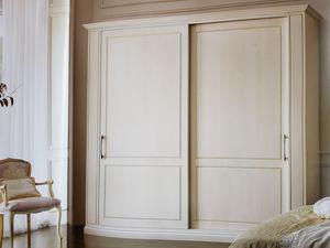 Clea, Klassischer Kleiderschrank mit Schiebetüren