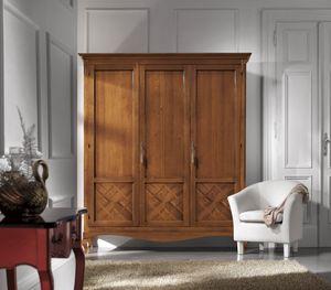 Kleiderschrank 3 Türen Inlay, Kleiderschrank im klassischen Stil