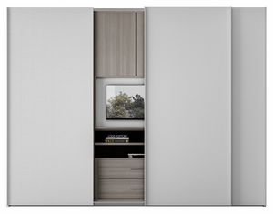 ZERO, Kleiderschrank mit drehbarem TV-Ständer