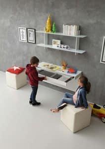 a106 daisy Schreibtisch, Moderne Schreibtisch für Kinderzimmer, mit Erweiterungsmechanismus