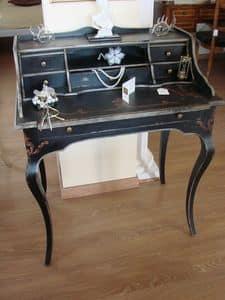Art. 290/6, Klassisch lackiert Schreibtisch für zu Hause, mit 6 Schubladen