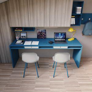 Easy desk 02, Großer Schreibtisch mit Schubladen