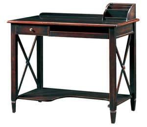 Ilario FA.0037, PC Stand Schreibtisch, handgemachte Armaturen, im antiken Stil