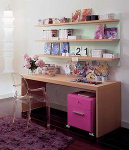Linear desk 03, Holzschreibtisch für Kinderzimmer