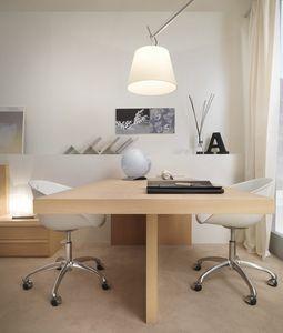 Linear desk 04, Eleganter Doppelschreibtisch