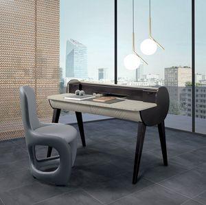 SC31 Schreibtisch, Zweifarbiger Schreibtisch aus Holz