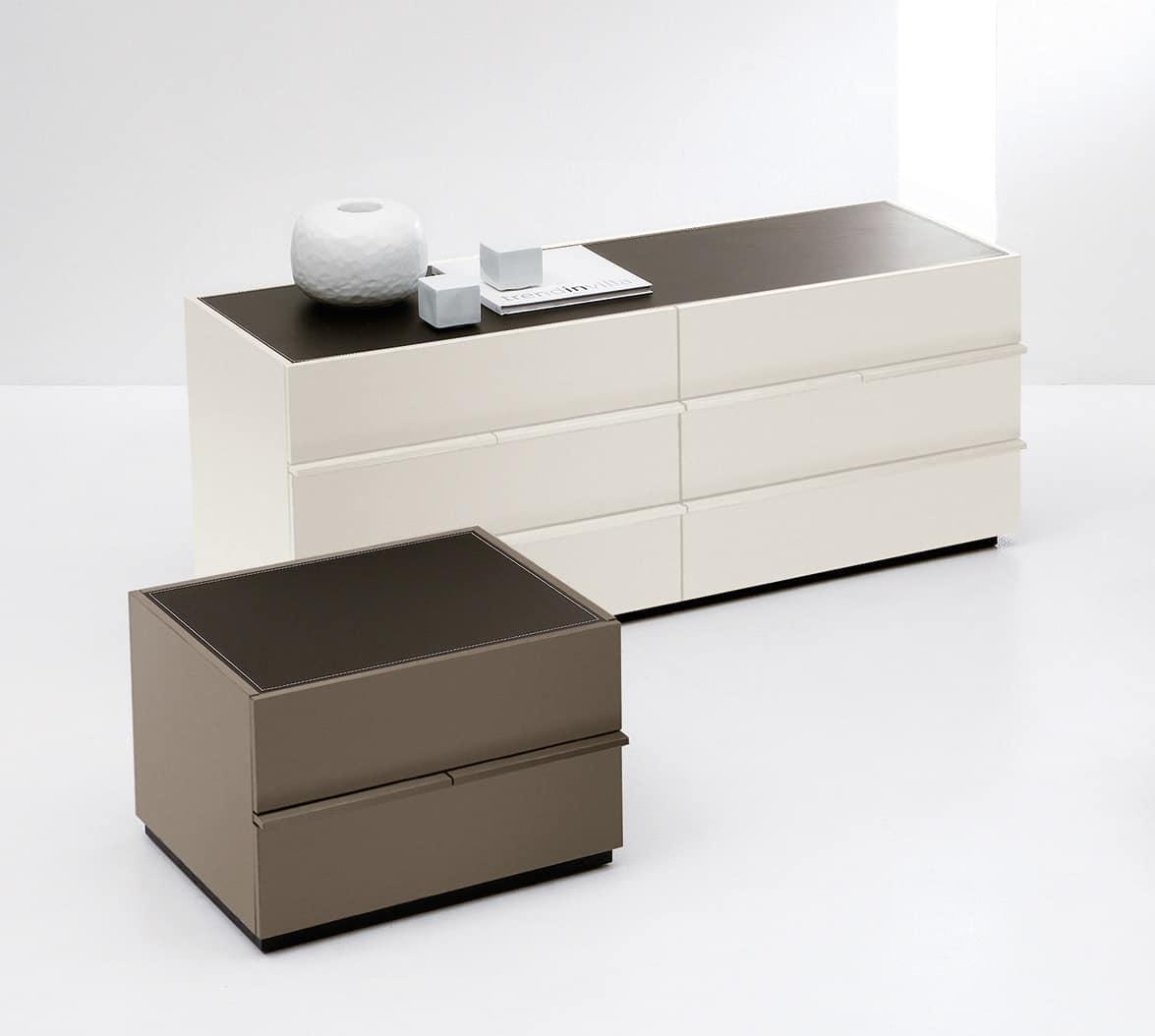AKI chest of drawers, Moderne Kommode im minimalistischen Stil, für Schlafzimmer