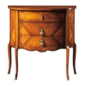 Emanuele FA.0060, Comoncino mit drei Schubladen, klassischen Luxus-Stil.