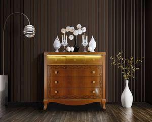 Harmony Kommode, Kommode mit Schubladen mit LED-Licht