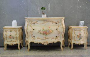 Art. 621, Outlet Kommode und Nachttische, im provenzalischen floralen Stil