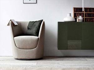 Oplà Sessel, Design tulpenförmigen Sessel, Drehfuß