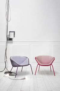 ART. 0081-MET-LOUNGE SKIN, Bunter und moderner Sessel