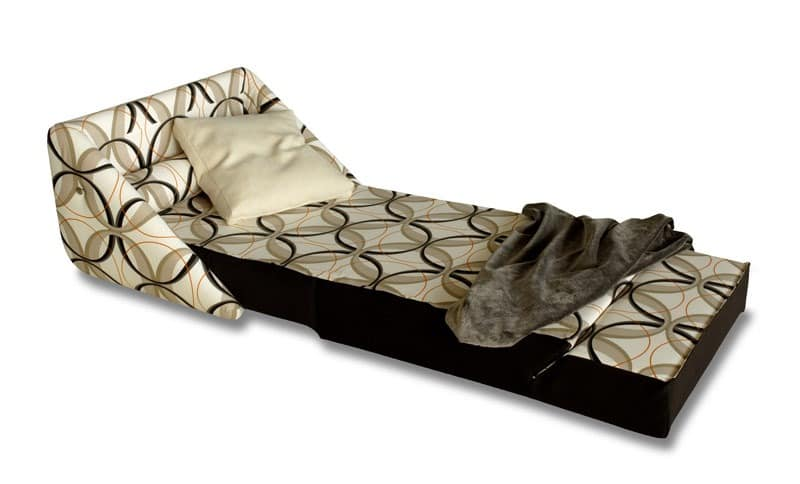 Easy, Sessel in Bett, mit Rädern, abnehmbarem Bezug
