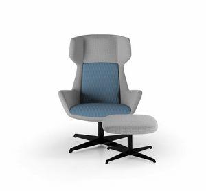 Magenta armchair, Sessel mit umhüllender hoher Rückenlehne