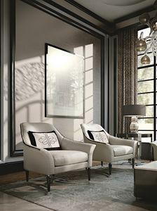 PALAIS-ROYAL Sessel, Luxus-Sessel mit verchromten Beinen