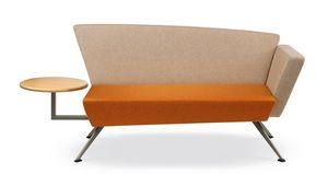 CORNER C2DT, Sofa für die Aufnahme, mit integriertem Tisch