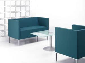 CUBIS DIVANO, Quadratisch geformte Sofa mit Aluminiumfüßen