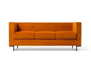 Hall 3p, Sofa für moderne Lounges Bereiche, mit Aluminiumfüßen