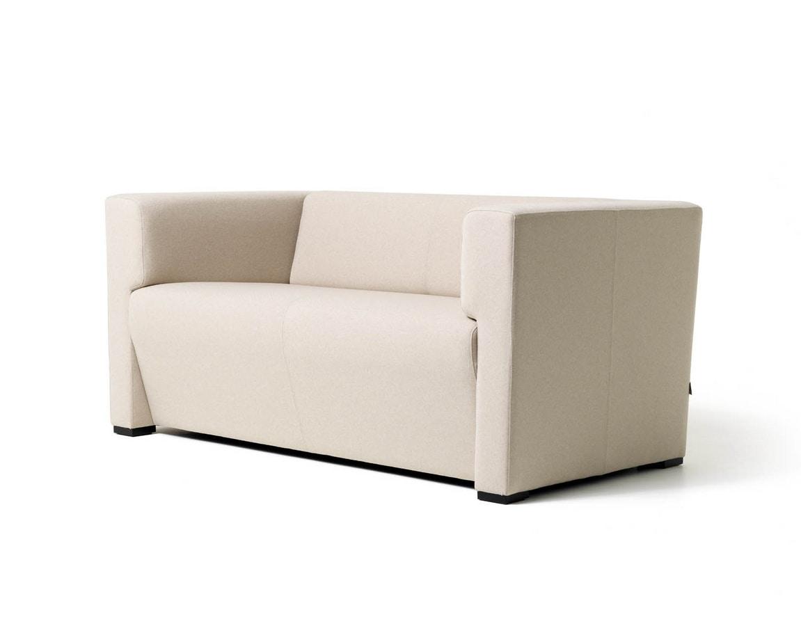 Toffee 2p, Linear-Sofa mit 2 Sitzen für Wartezimmer