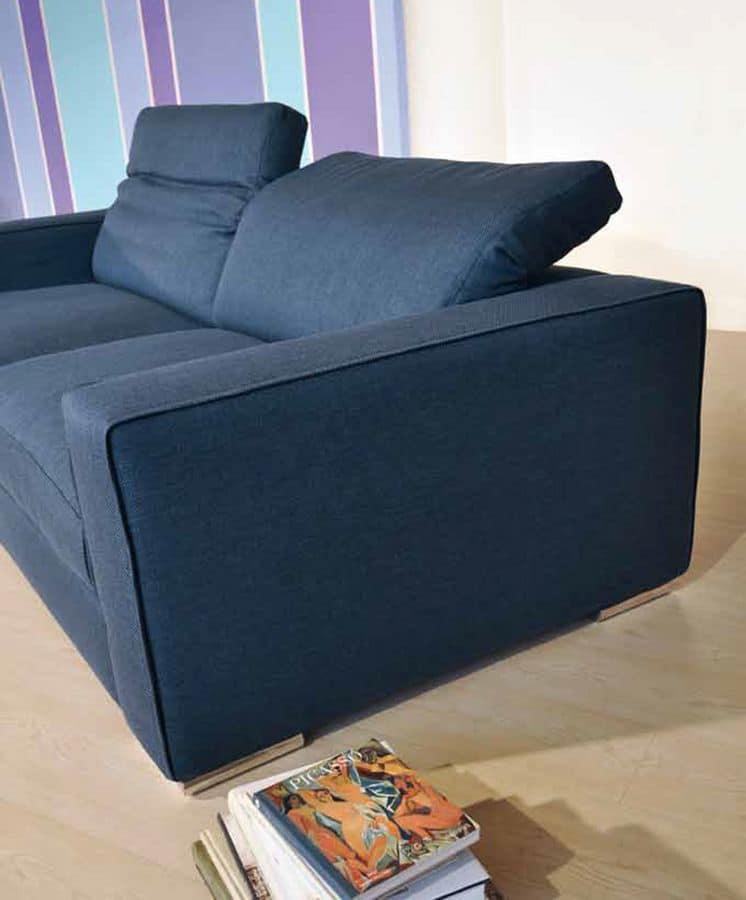 Corinto, 2-Sitzer-Sofa aus Stoff, geeignet für modernes Wohnen